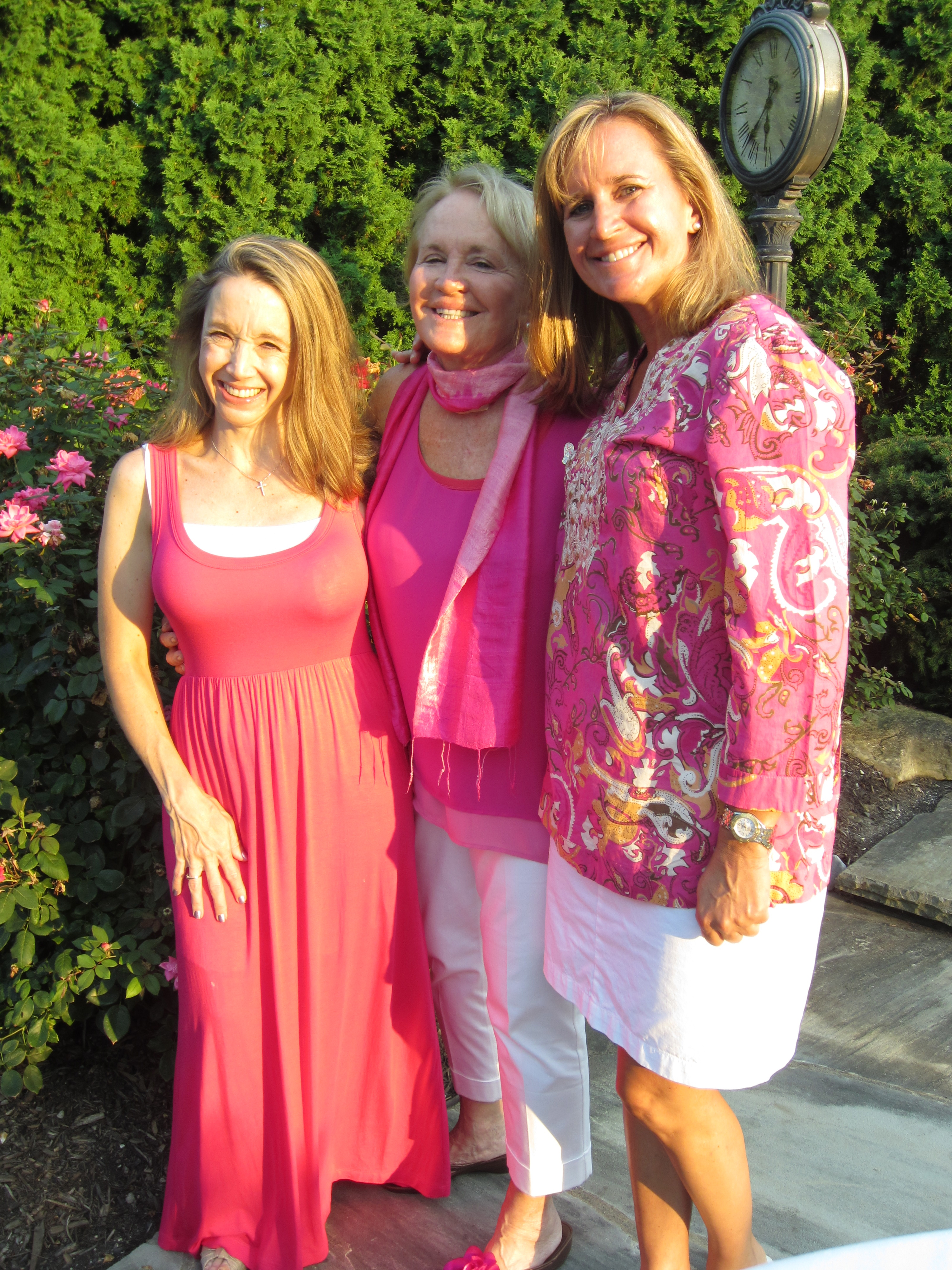 My sister Josie, my mother, and I at a party, Summer 2012