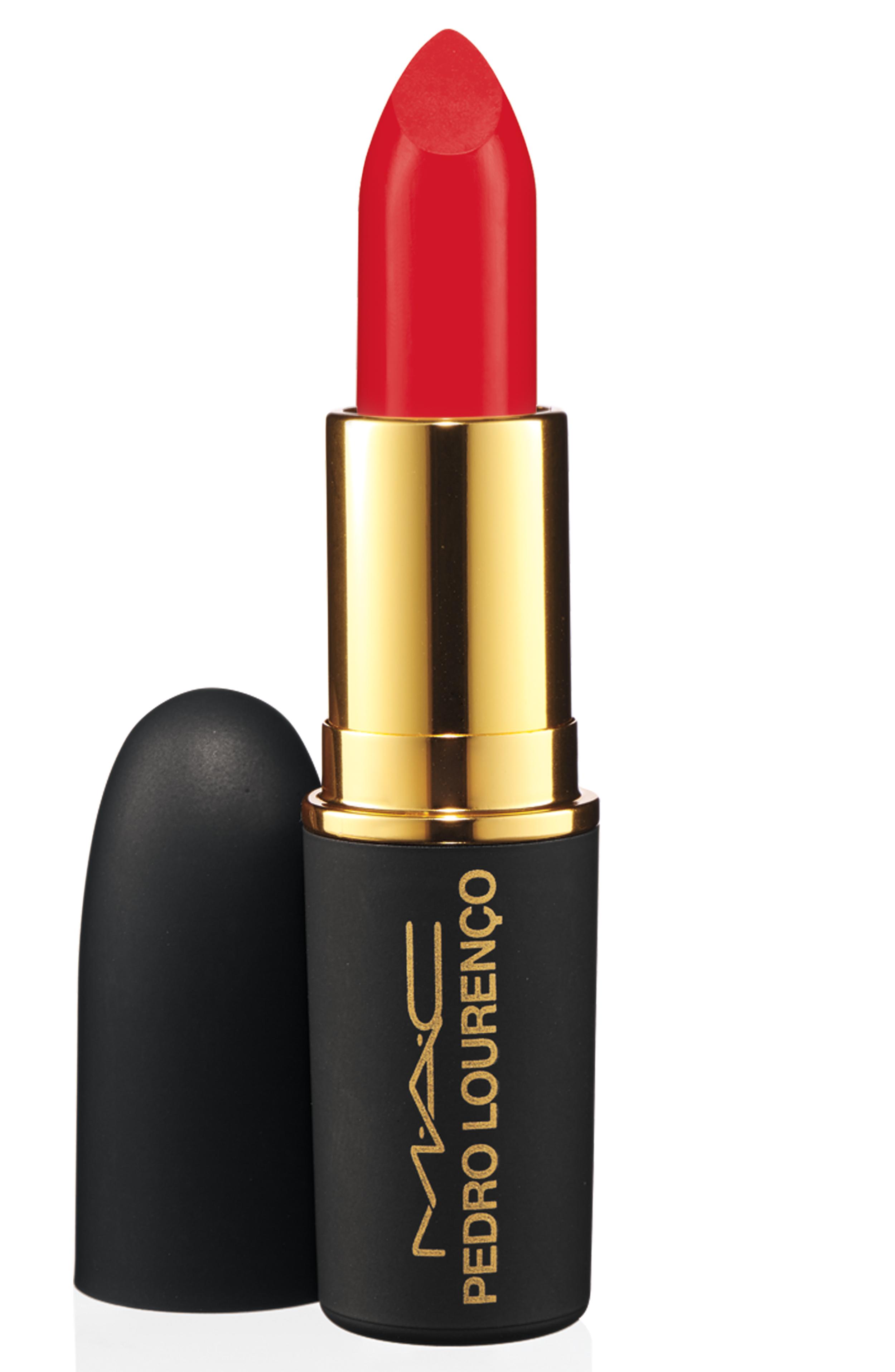 M.A.C. Pedro Lourenco lipstick in True Red