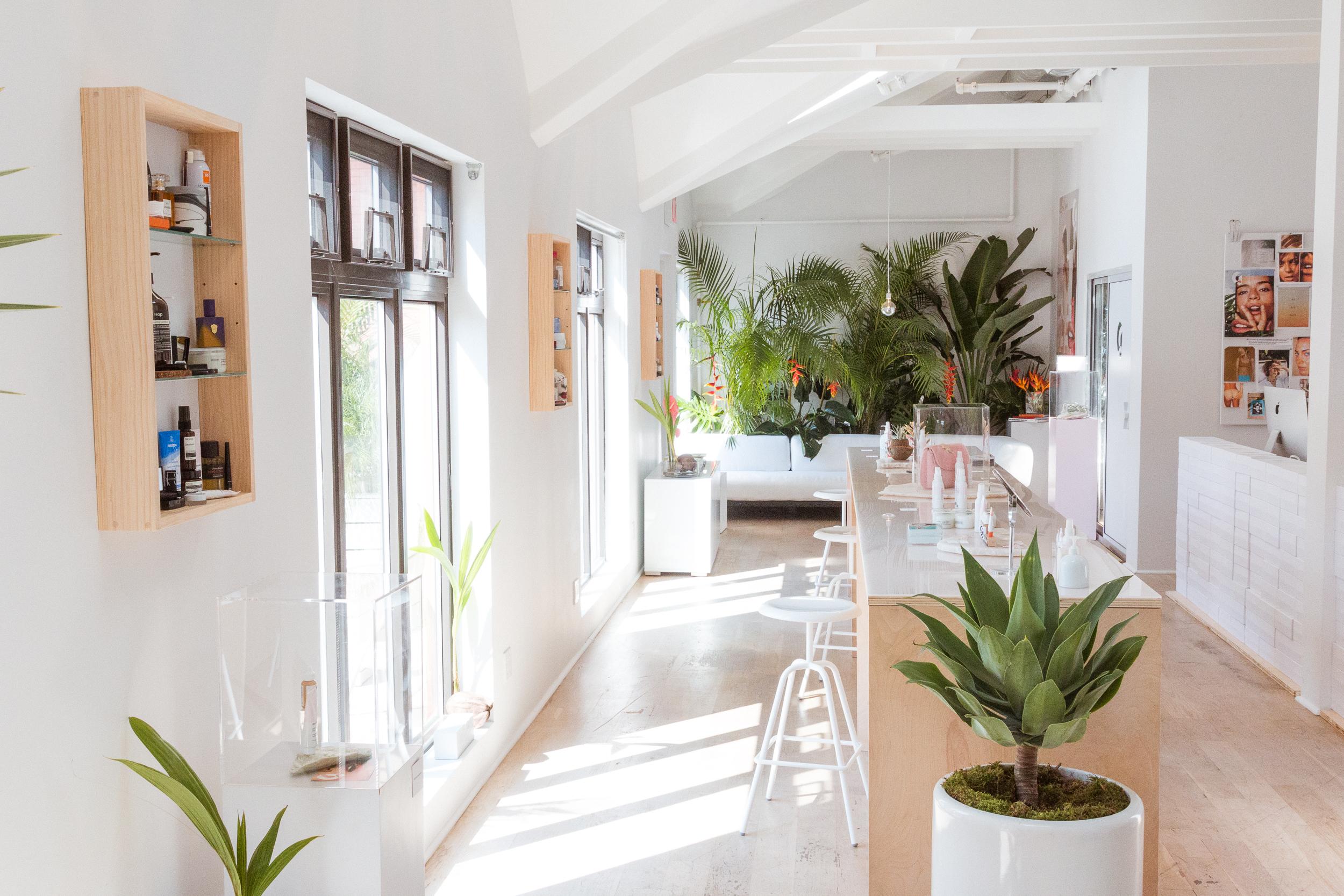 Glossier's showroom