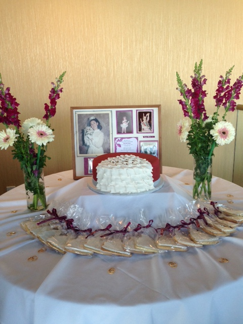 The cake table at my friend's shower