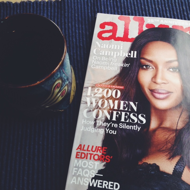 Beautiful 45-year-old Naomi Campbell on the cover of Allure