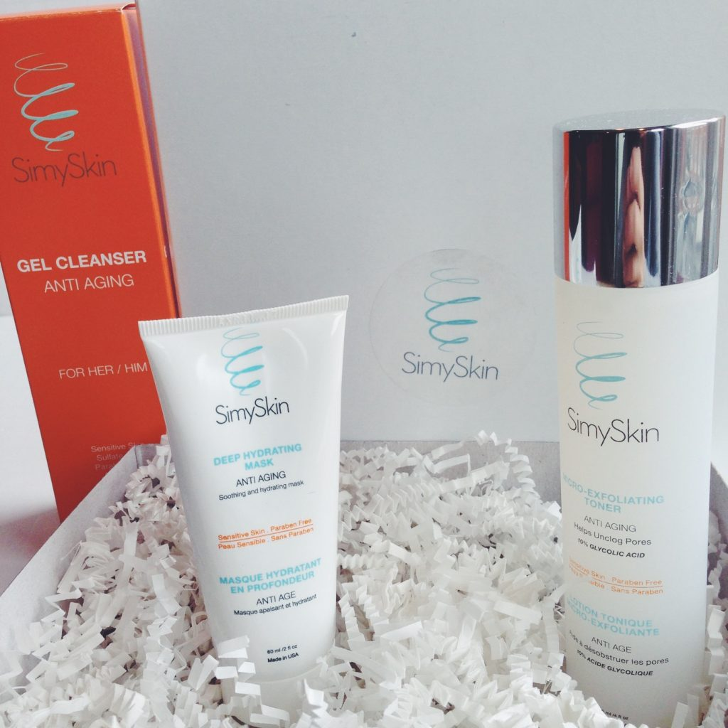 SkimySkin cleanser, toner, and face mask