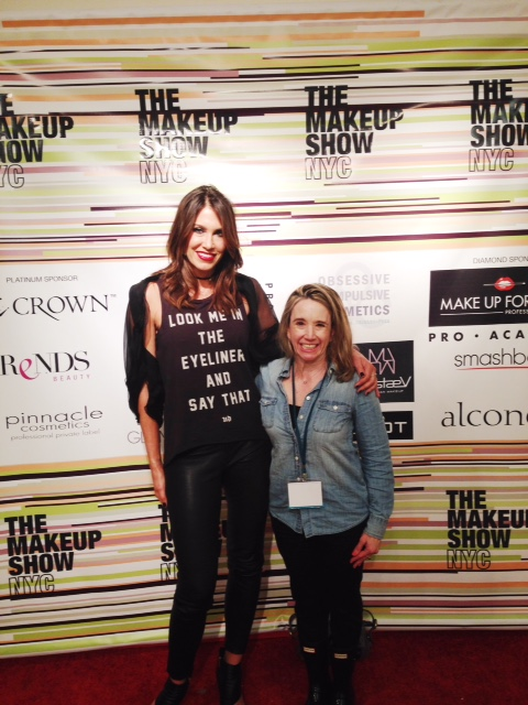 I made a friend at the Makeup Show NYC: Urban Decay founder Wende Zomnir