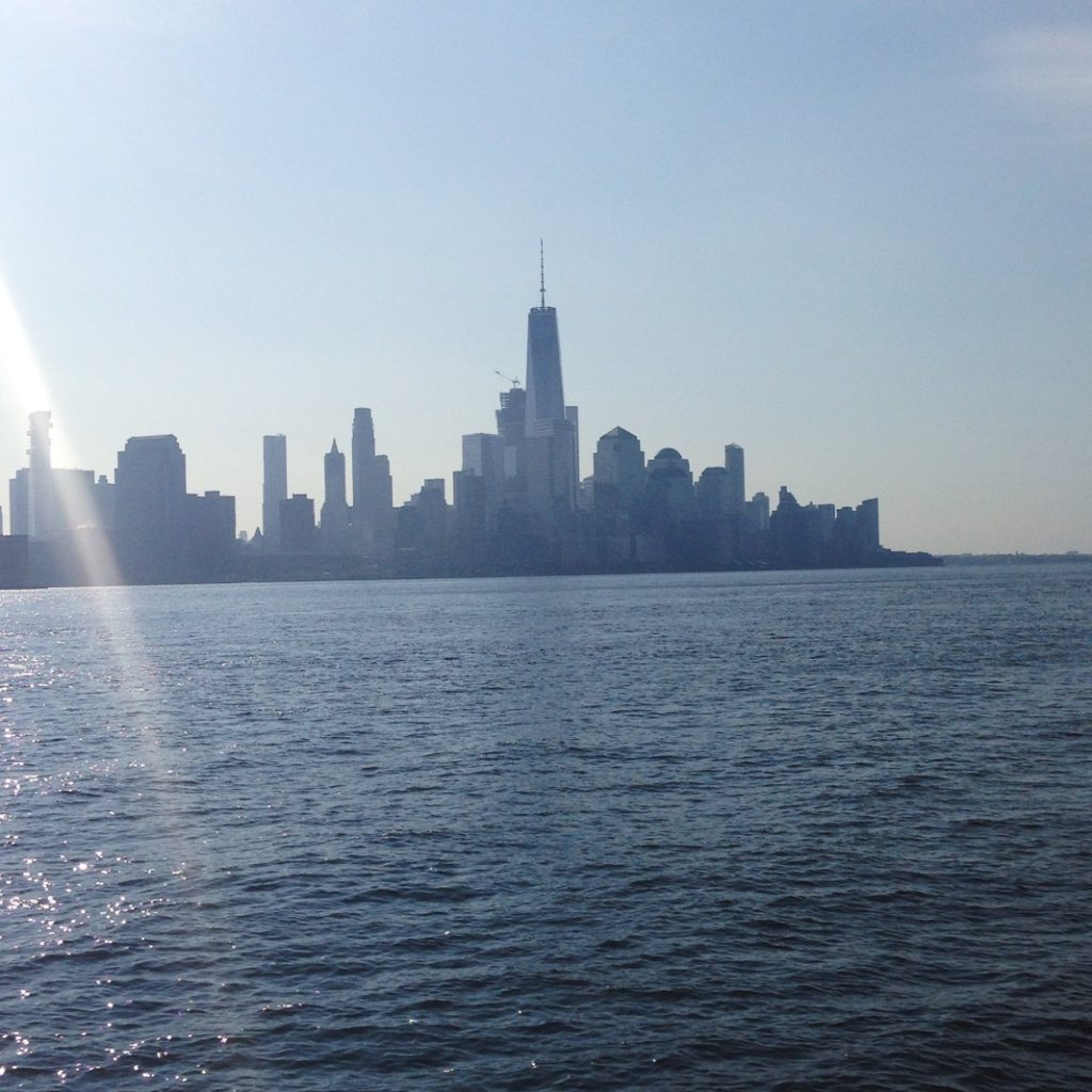 One World Trade Center from Pier A Park in Hoboken