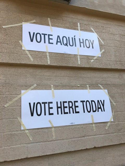 The sign at my polling place